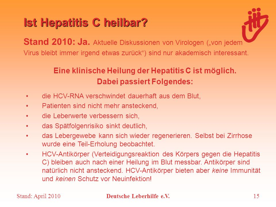 Ist Hepatitis C heilbar