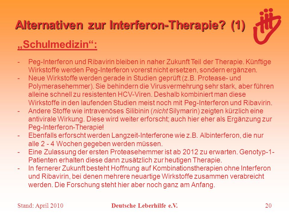 Alternativen zur Interferon-Therapie (1)