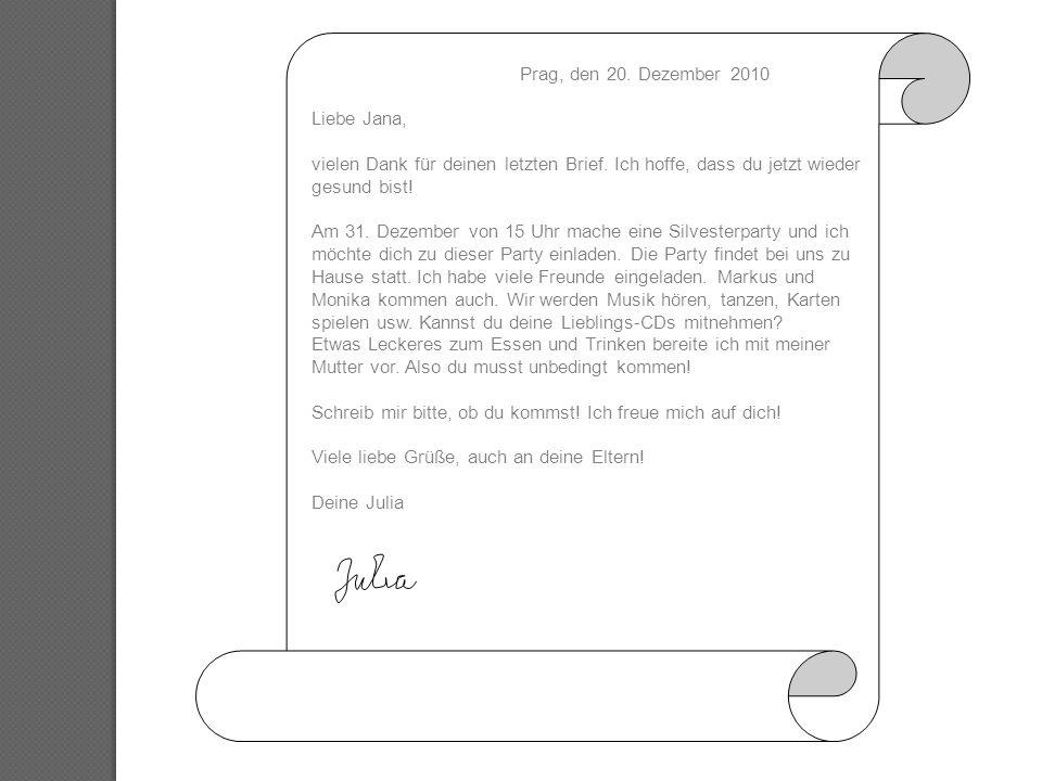 Briefe Schreiben Persönlicher Brief Ppt Herunterladen