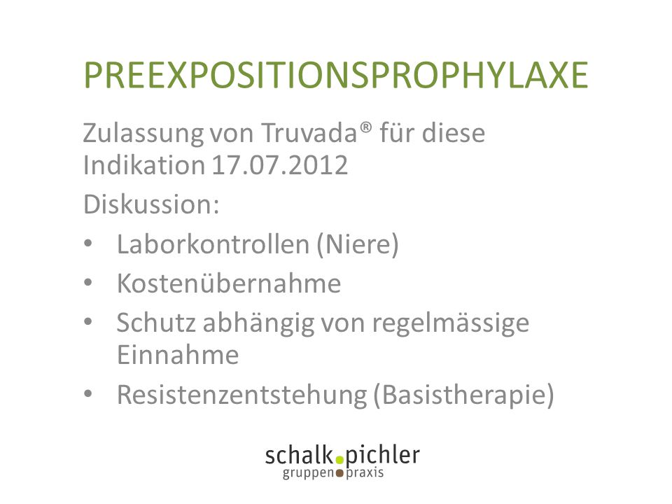 PREEXPOSITIONSPROPHYLAXE
