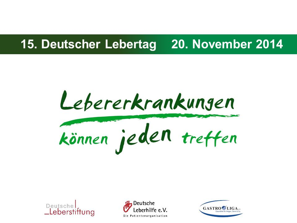 15. Deutscher Lebertag 20. November 2014
