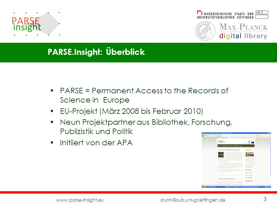 PARSE.Insight: Überblick
