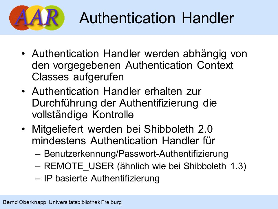 Authentication Handler