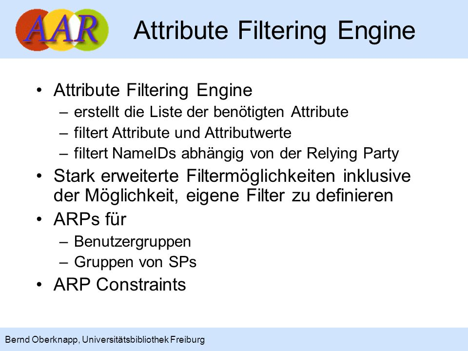 Attribute Filtering Engine