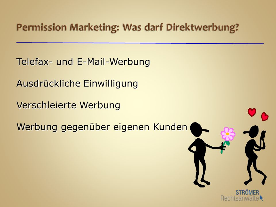 Permission Marketing: Was darf Direktwerbung