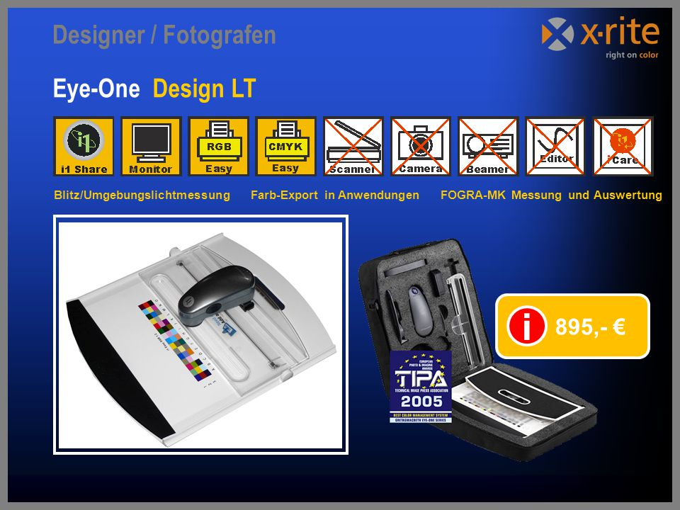i Designer / Fotografen Eye-One Design LT 895,- €