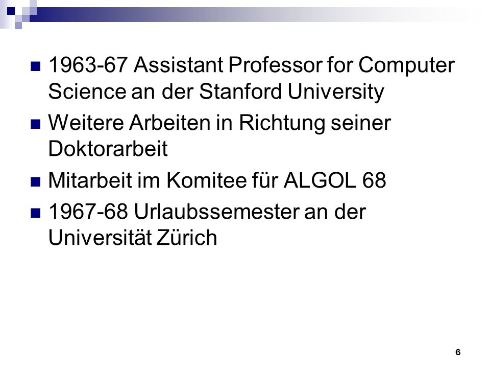 Assistant Professor for Computer Science an der Stanford University