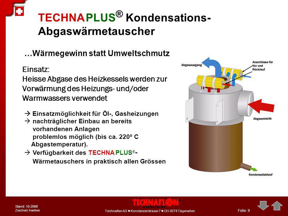 TECHNA PLUS® Kondensations-Abgaswärmetauscher