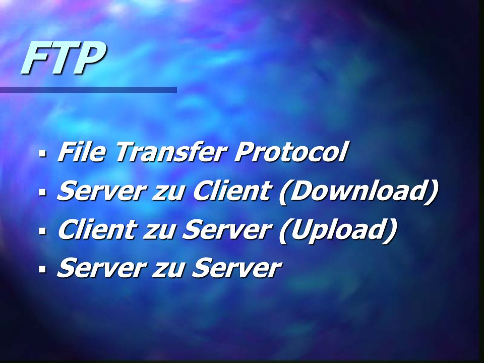 FTP File Transfer Protocol Server zu Client (Download)
