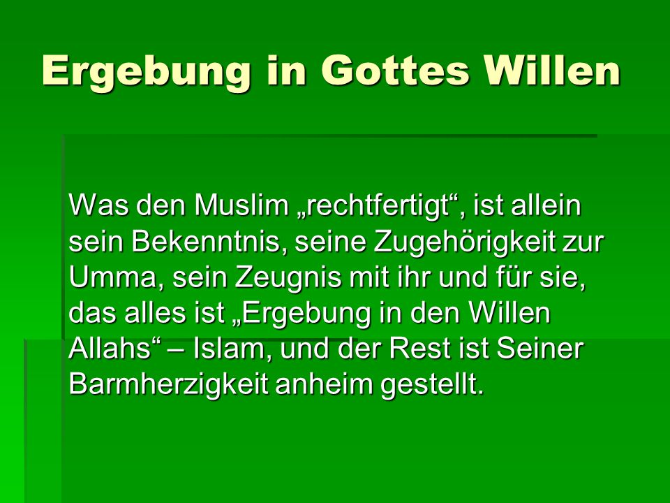 Ergebung in Gottes Willen