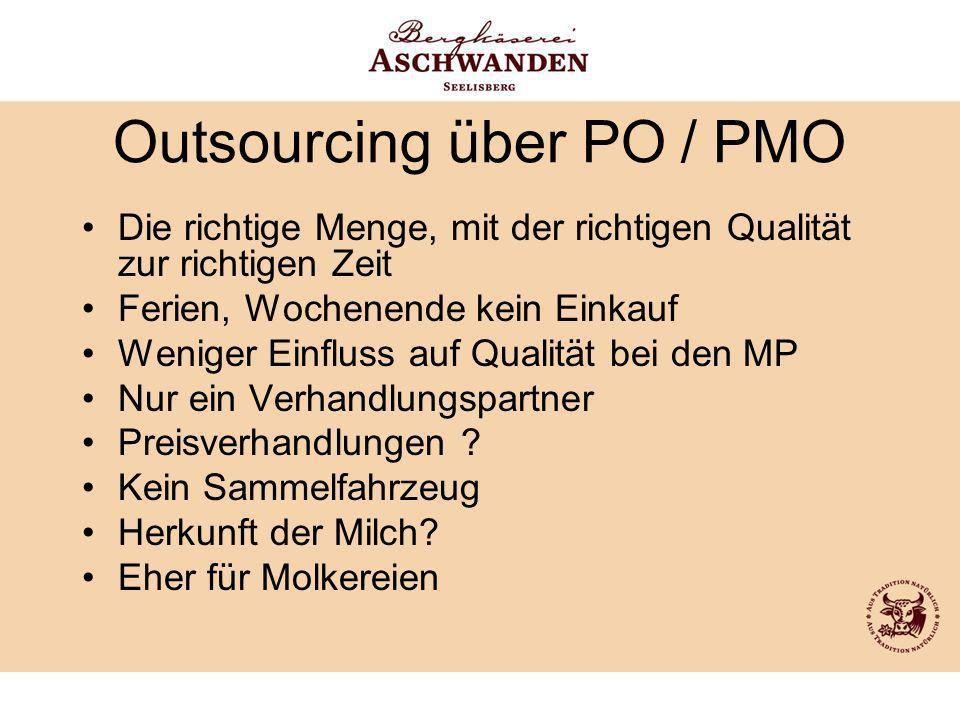 Outsourcing über PO / PMO