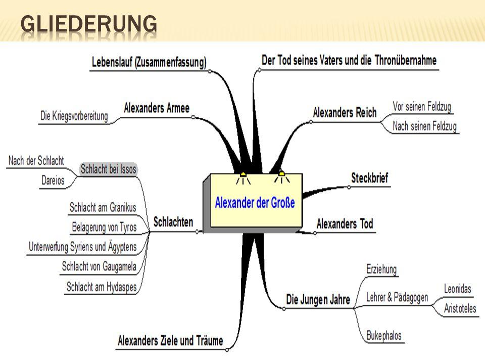 2 gliederung - Alexander Der Groe Lebenslauf