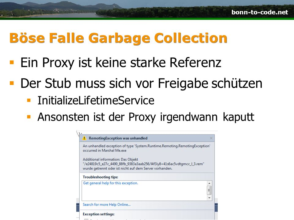 Böse Falle Garbage Collection