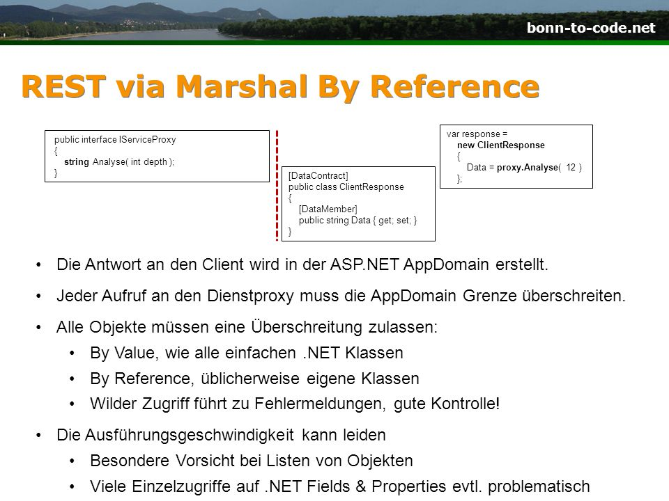 REST via Marshal By Reference