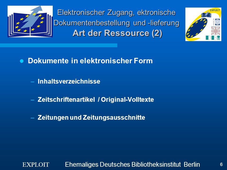 Dokumente in elektronischer Form