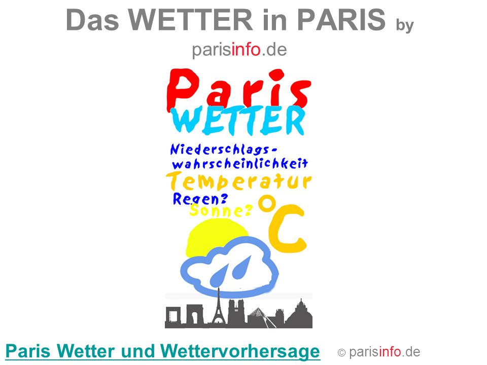 Das WETTER in PARIS by parisinfo.de