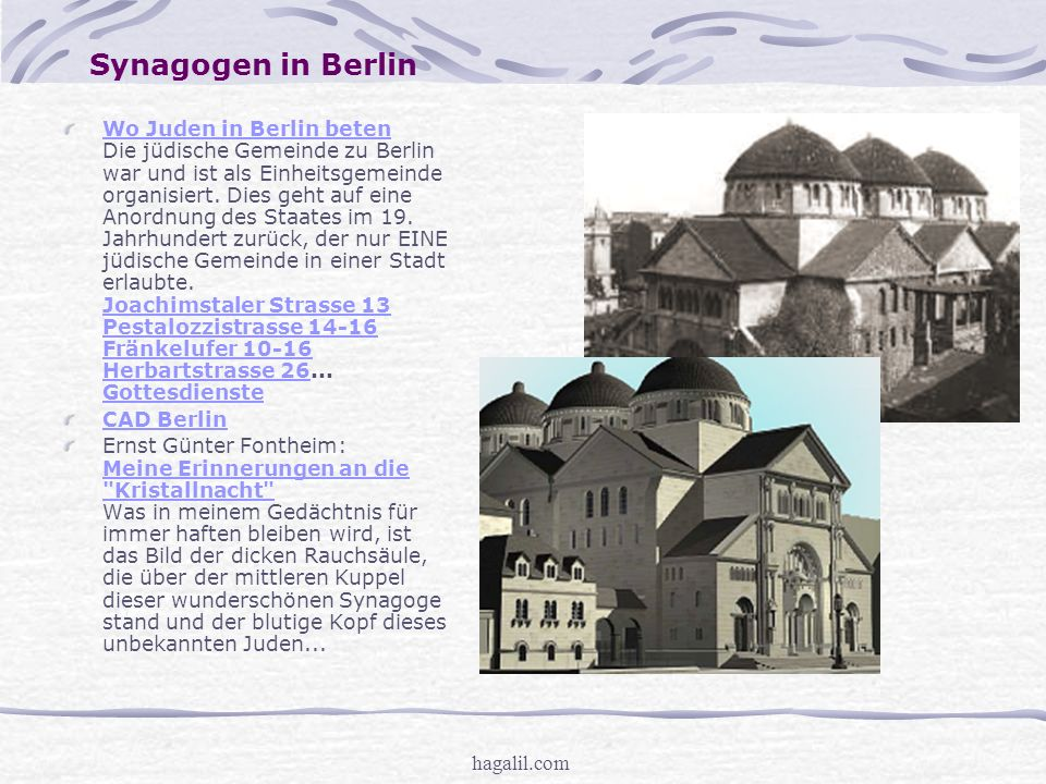 Synagogen in Berlin