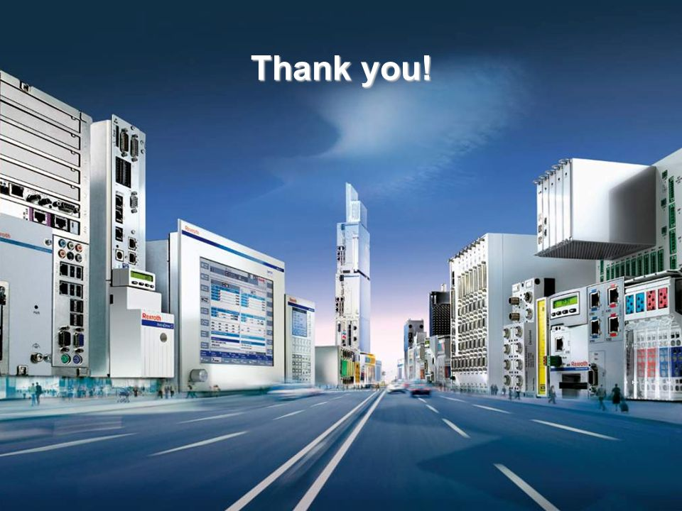 Thank you! Electric Drives and Controls Sales Training Level3 | DCC/SAL1-RW | 03 / 2010