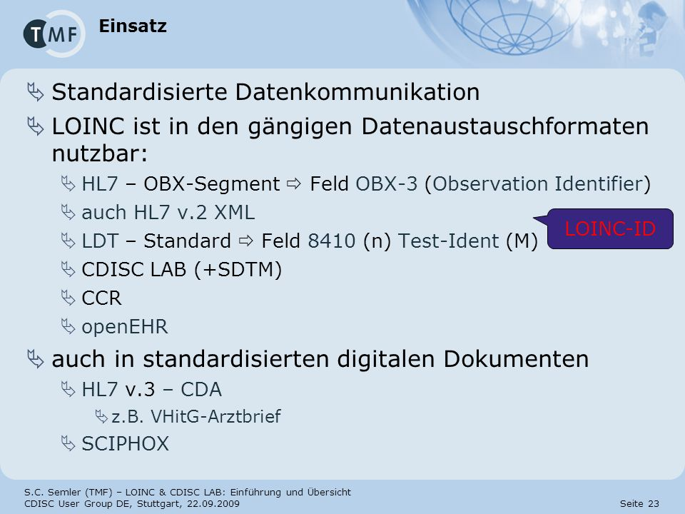 Standardisierte Datenkommunikation