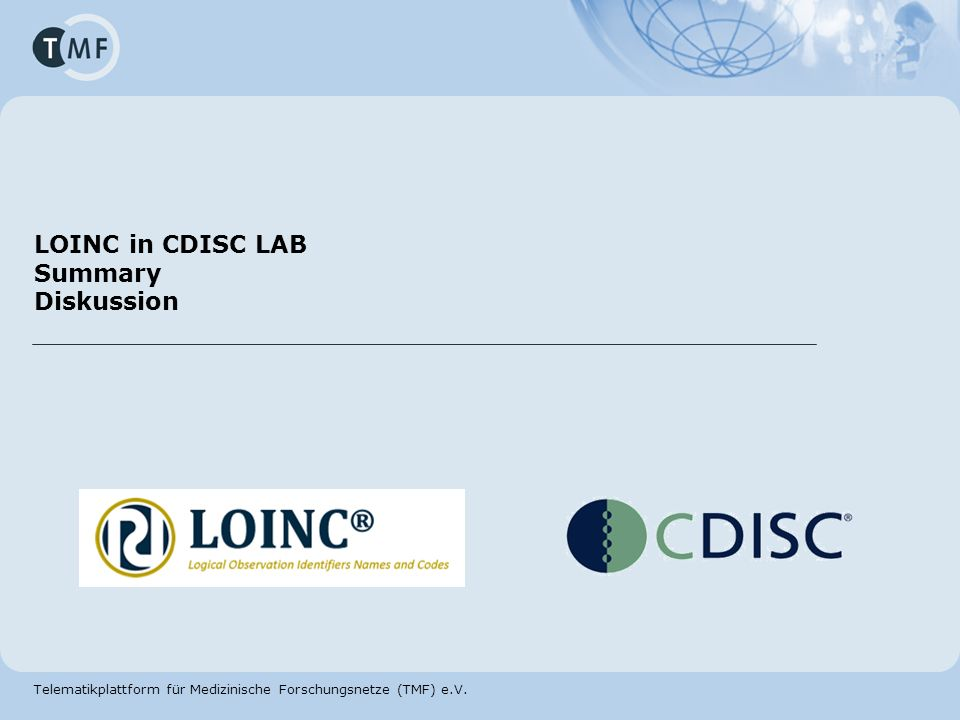 LOINC in CDISC LAB Summary Diskussion