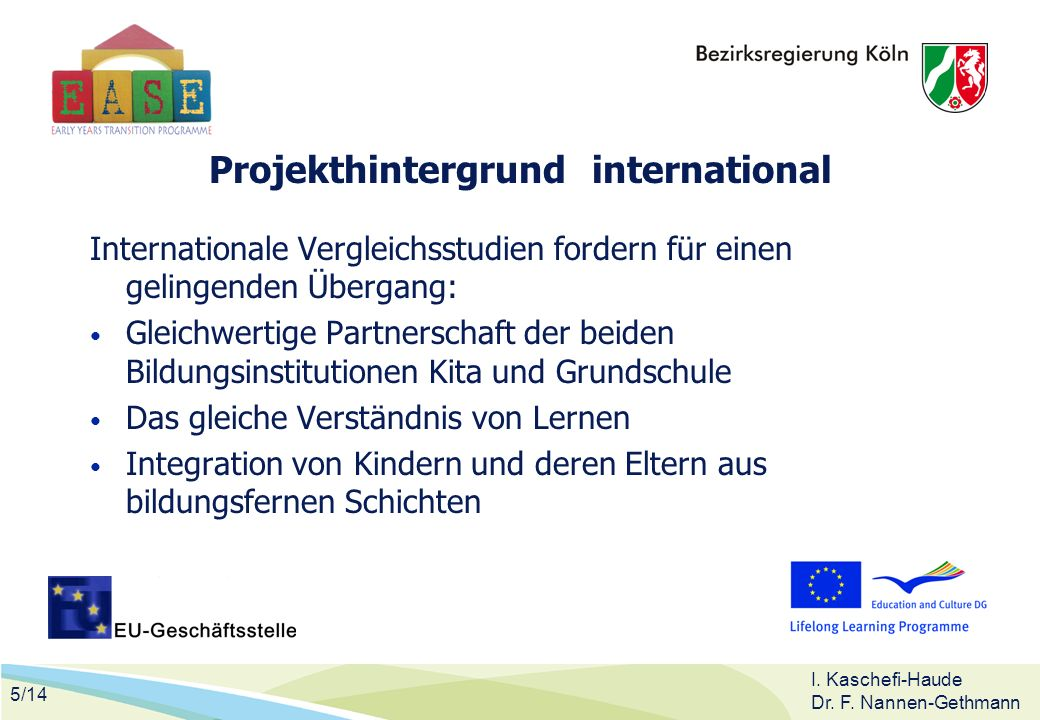 Projekthintergrund international