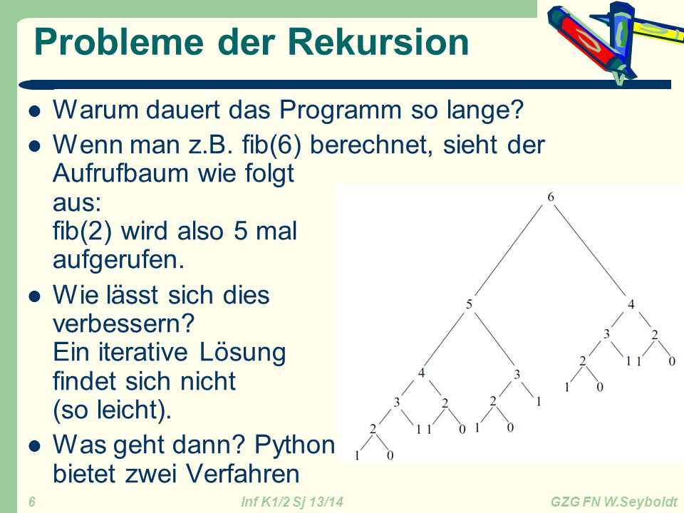Probleme der Rekursion