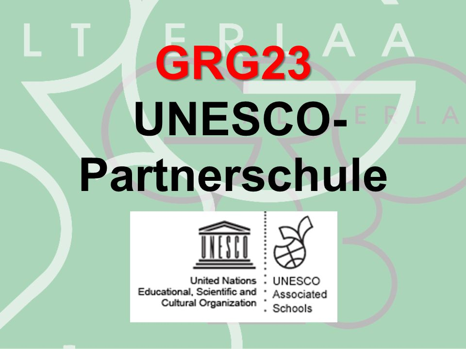 GRG23 UNESCO- Partnerschule