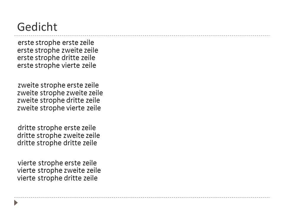 Deutsche gedichte 4 strophen