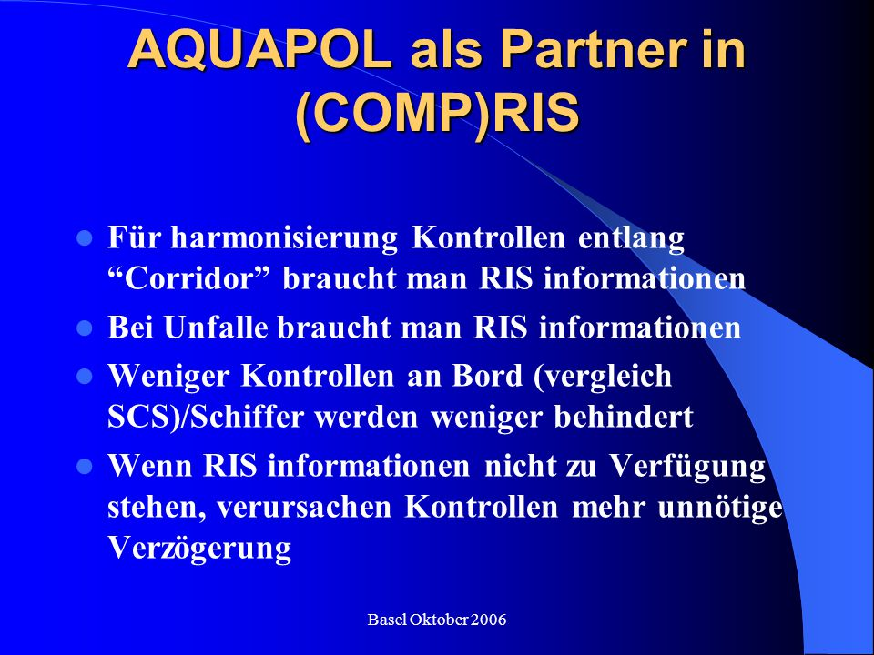 AQUAPOL als Partner in (COMP)RIS