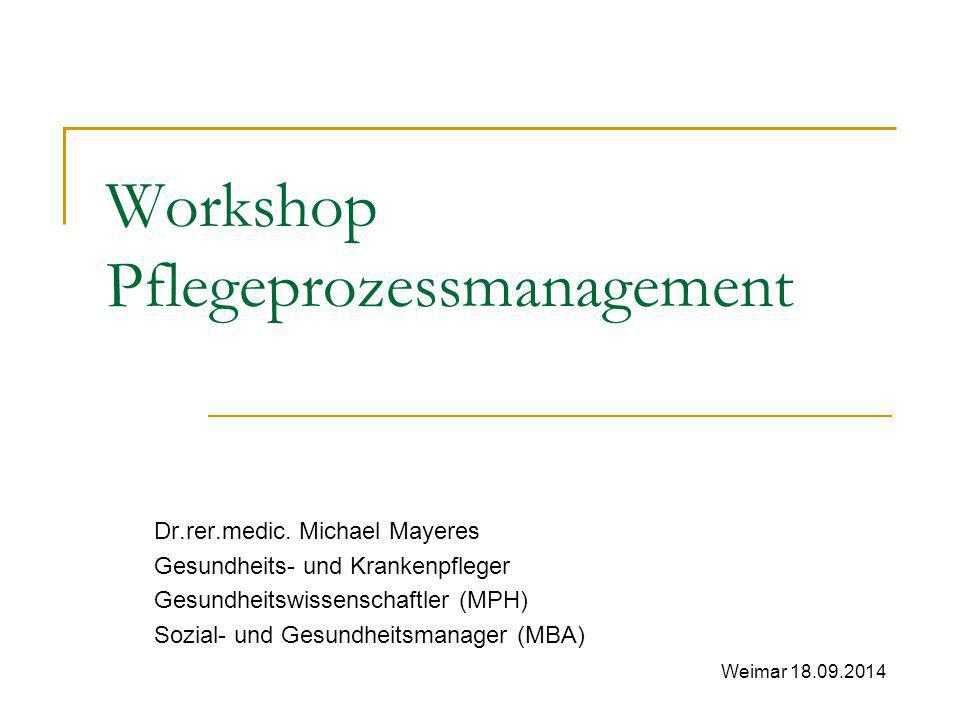 Workshop Pflegeprozessmanagement