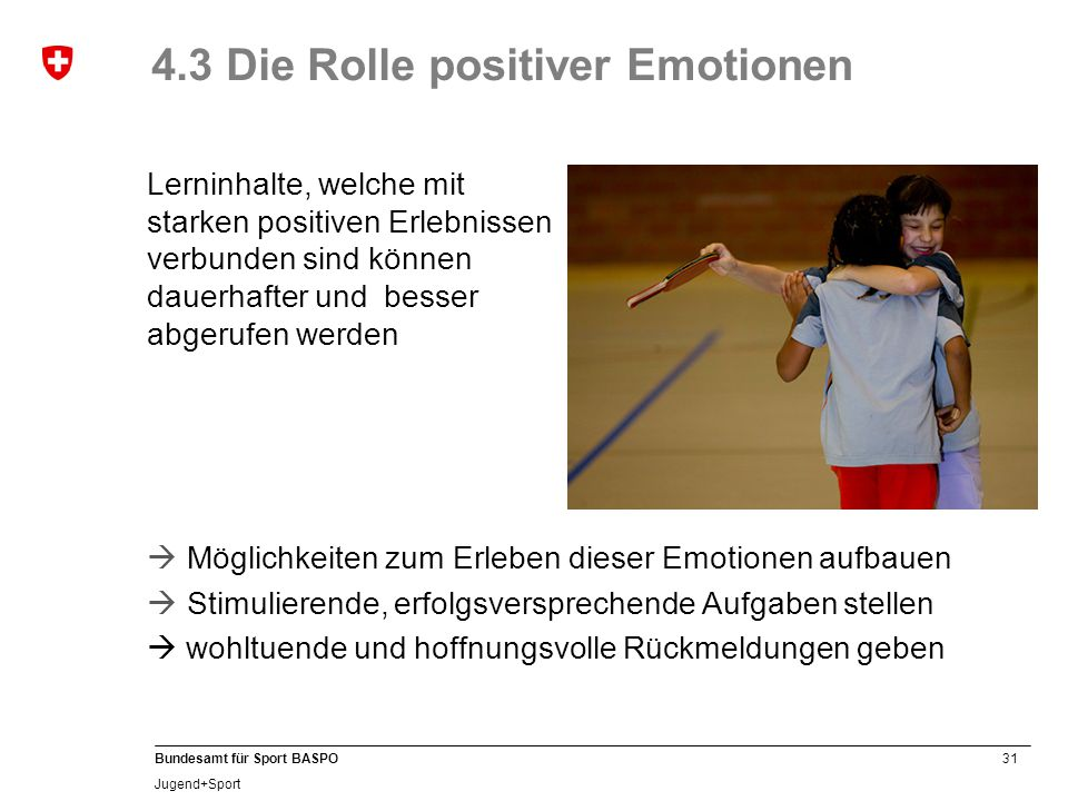 4.3 Die Rolle positiver Emotionen