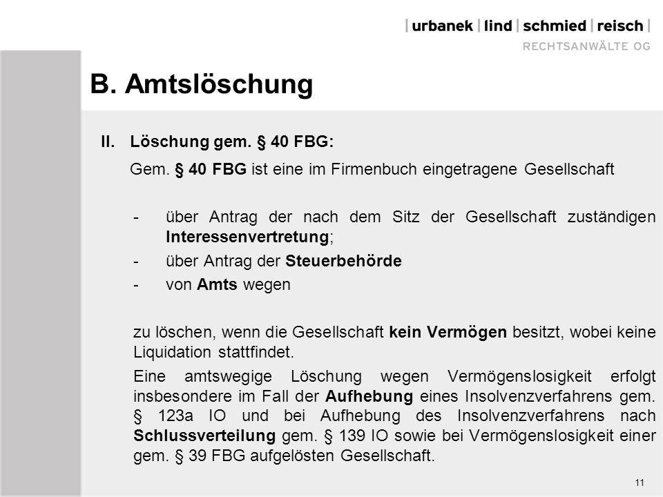11 b amtslschung - Liquidationserffnungsbilanz Muster
