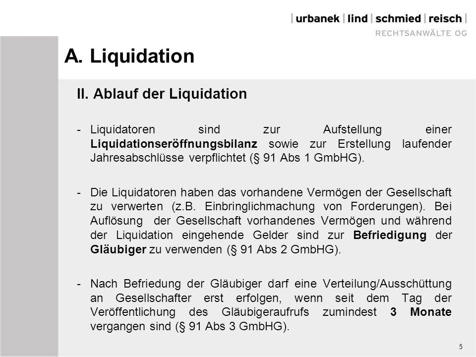 5 a liquidation - Liquidationseroffnungsbilanz Muster