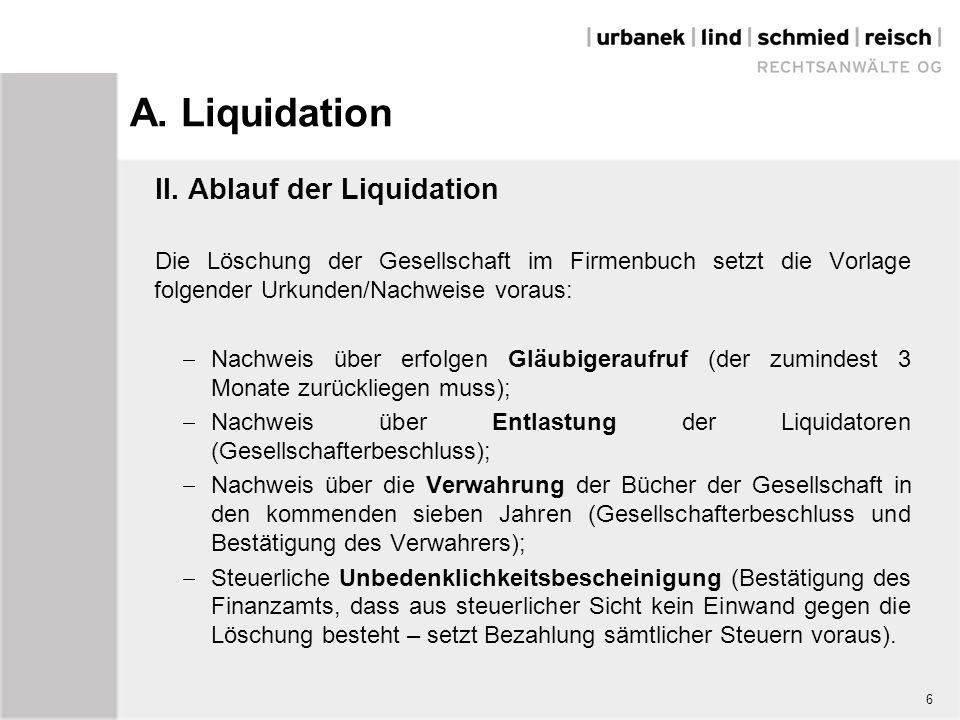 6 a liquidation - Liquidationseroffnungsbilanz Muster