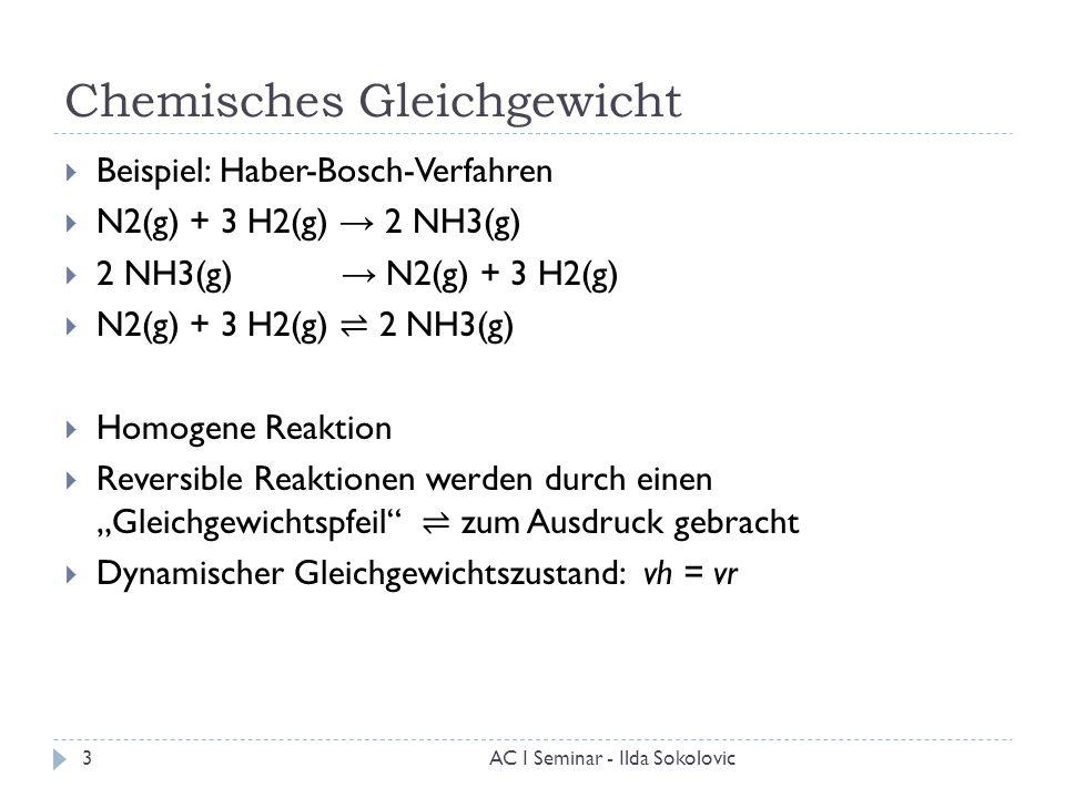 3 chemisches gleichgewicht - Massenwirkungsgesetz Beispiel