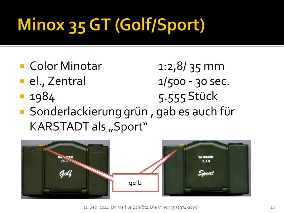 Minox 35 GT (Golf/Sport) Color Minotar 1:2,8/ 35 mm