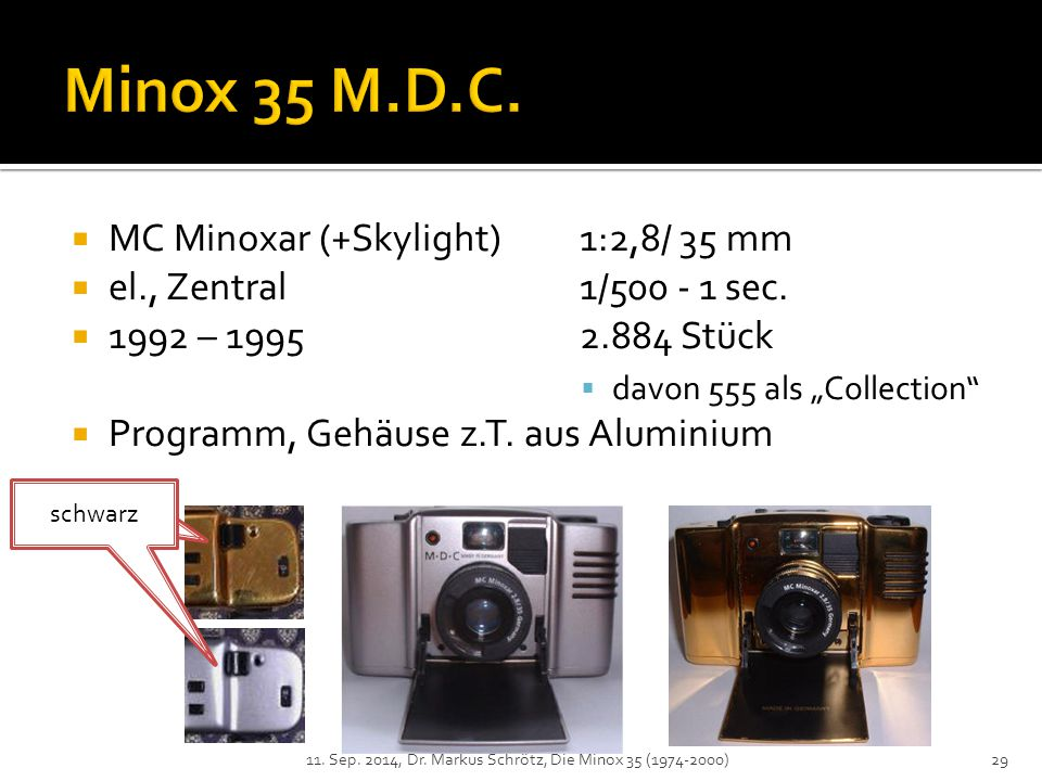 Minox 35 M.D.C. MC Minoxar (+Skylight) 1:2,8/ 35 mm
