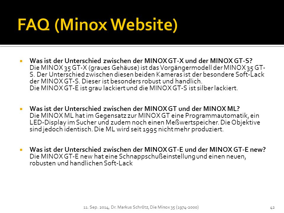 FAQ (Minox Website)