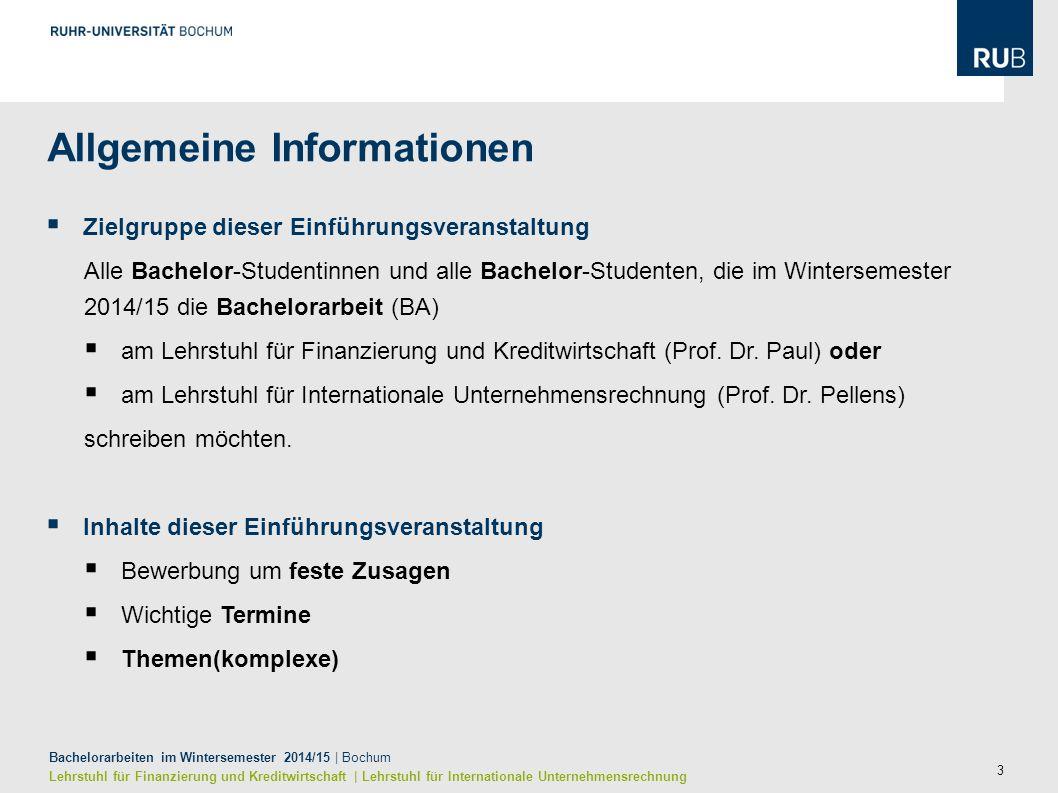 3 Allgemeine Informationen