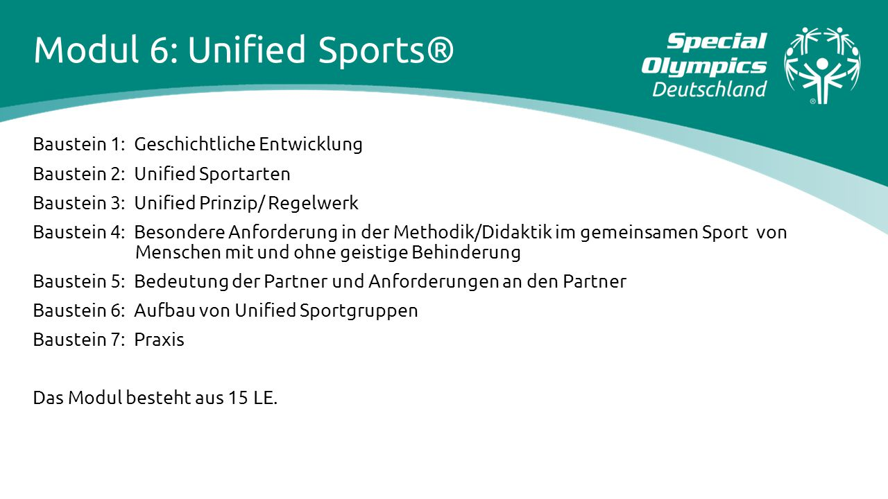 Modul 6: Unified Sports®