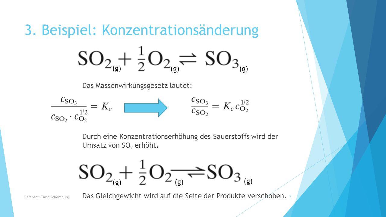 beispiel konzentrationsnderung - Massenwirkungsgesetz Beispiel