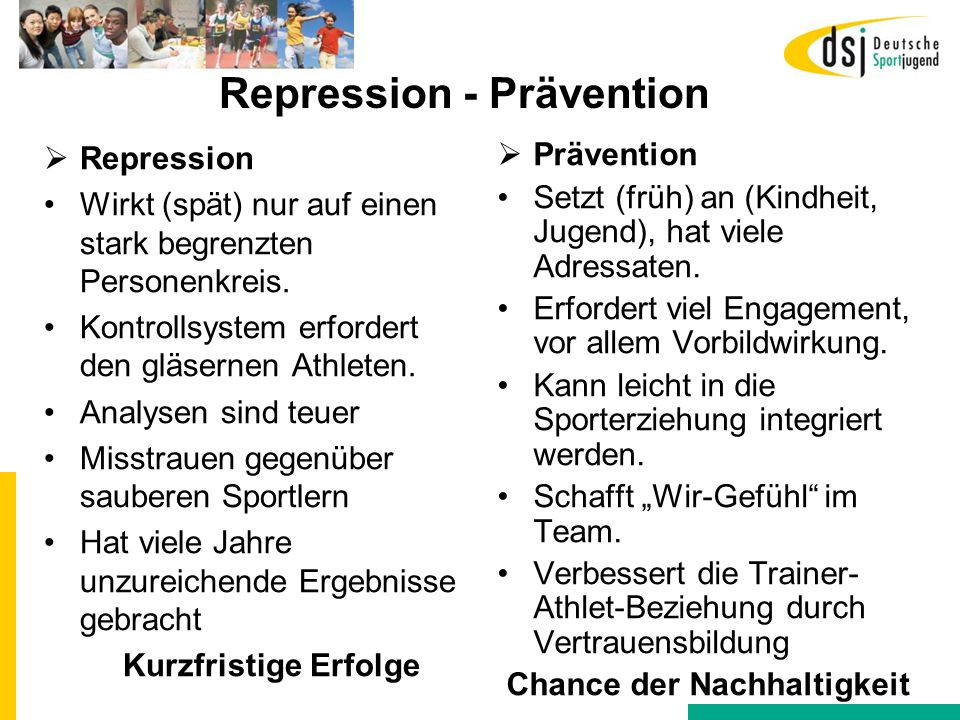 Repression - Prävention