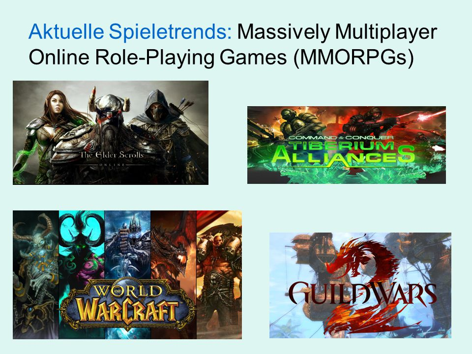 Aktuelle Spieletrends: Massively Multiplayer Online Role-Playing Games (MMORPGs)