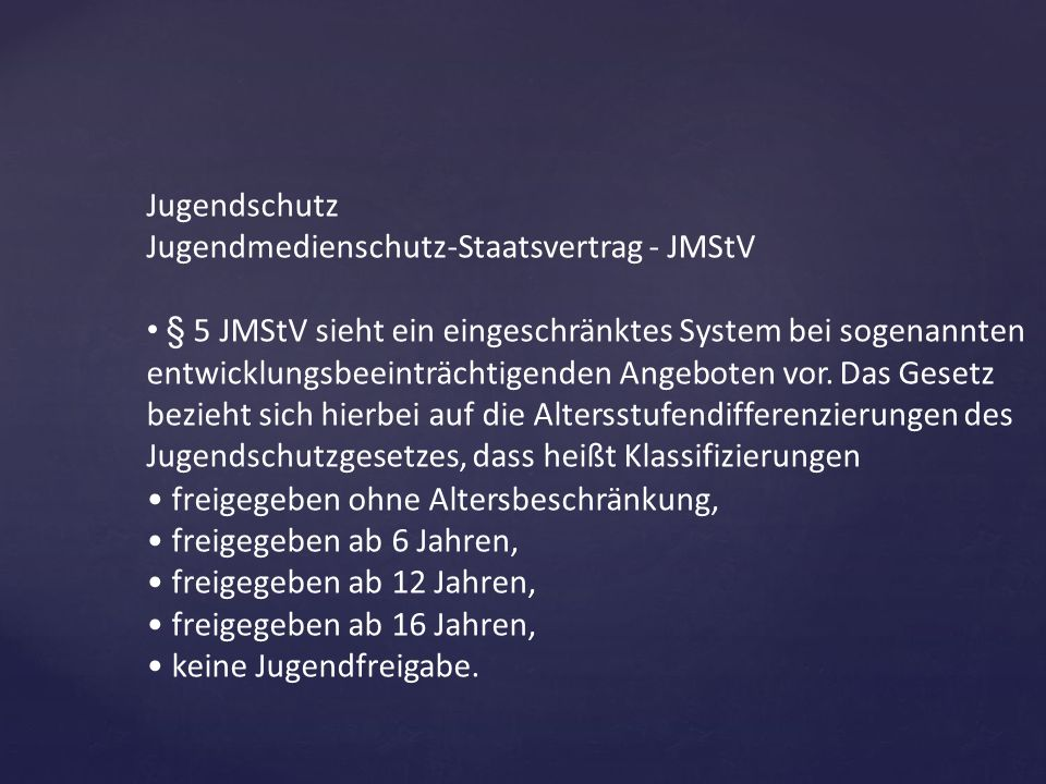 Jugendmedienschutz-Staatsvertrag - JMStV