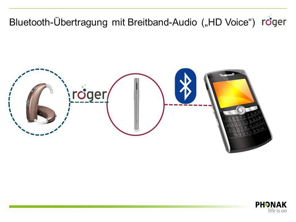 "Bluetooth-Übertragung mit Breitband-Audio (""HD Voice )"