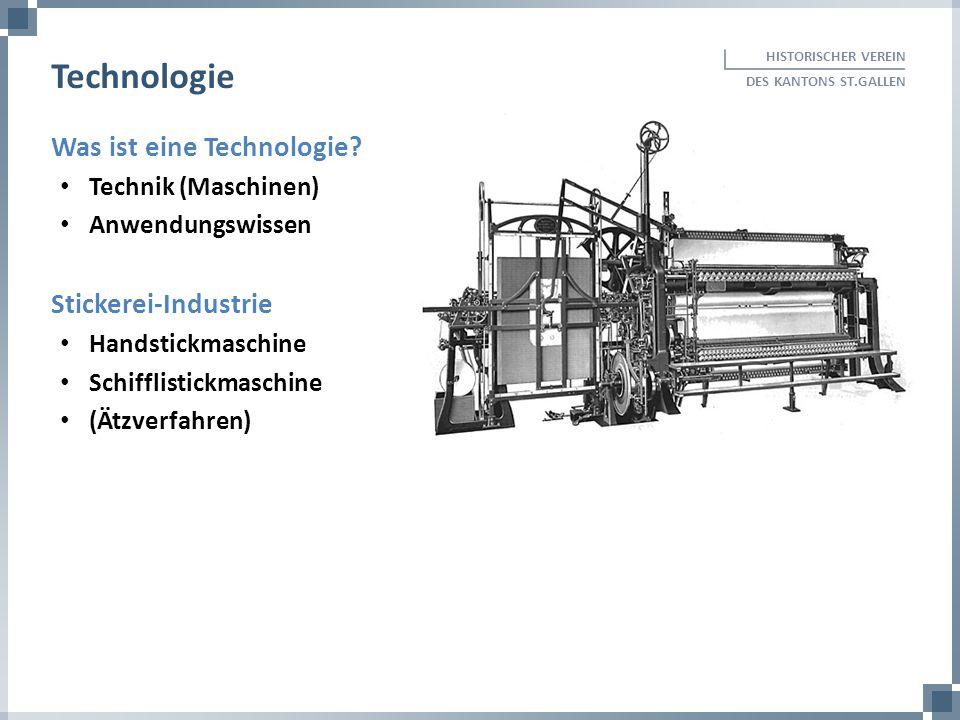 Technologie Was ist eine Technologie Stickerei-Industrie