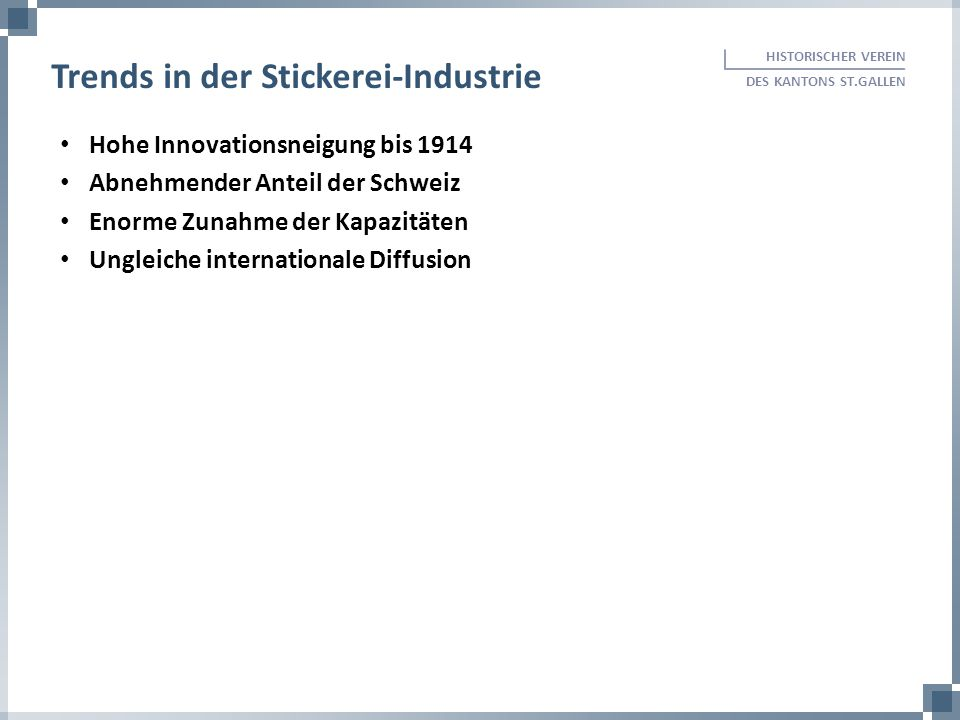 Trends in der Stickerei-Industrie