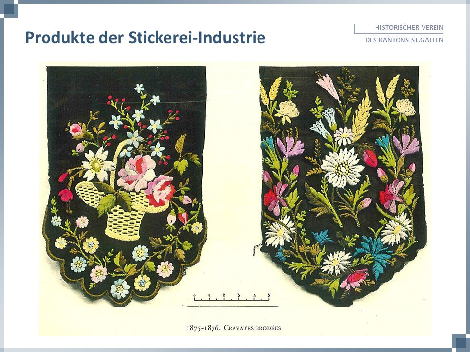Produkte der Stickerei-Industrie