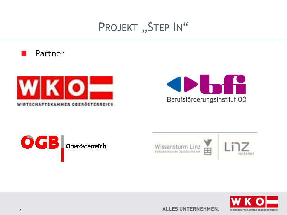 "Projekt ""Step In Partner"