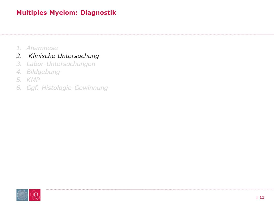 Multiples Myelom: Diagnostik